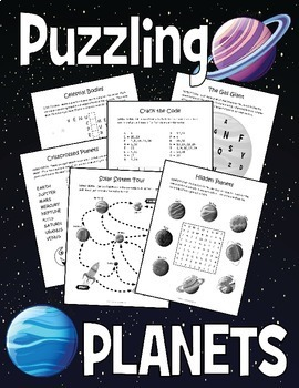 Planets and Solar System Puzzle Bundle