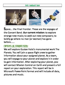 The Planets - A Webquest -