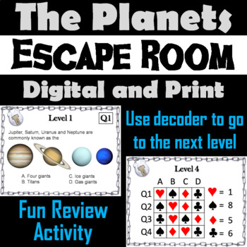 The Planets Activity: Escape Room - Science