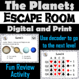 Planets Activity: Astronomy Escape Room (Space Science: Solar System Game)
