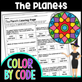 The Planets Science Color By Number or Quiz