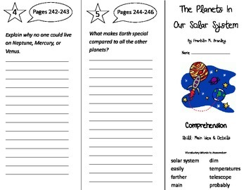 The Planets In Our Solar System Trifold - Treasures 3rd Gr Unit 2 Week 4 (2009)