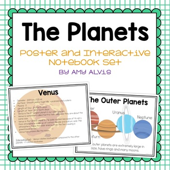 The Planets Posters and Interactive Notebook INB Set
