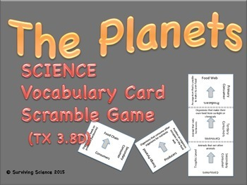 The Planets: Science Vocabulary Scramble Card Game (TX 3.8D)