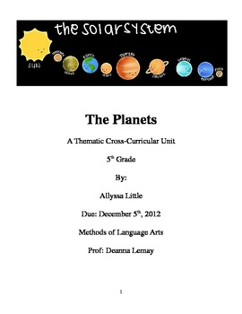 The Planets Unit Plan