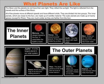 The Planets and Sun - A Third Grade SmartBoard Introduction