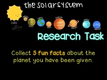 The Planets of the Solar System: Research Task