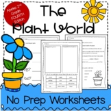 The Plant World, ABEKA 2nd Grade Plant Worksheets Study Guide