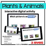 The Plants & Animals interactive digital activity