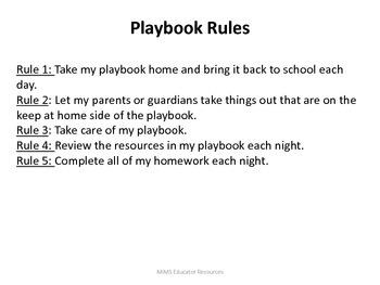 The Playbook Homework Resource