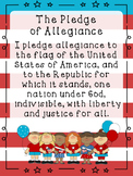 The Pledge of Allegiance Classroom Poster