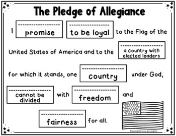 The Pledge Of Allegiance Cut And Paste Kindnessnation Supreme Court Worksheet The Pledge Of Allegiance Cut And Paste Kindnessnation Weholdthesetruths