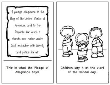 The Pledge of Allegiance {History Reader} Kindergarten & First Social Studies