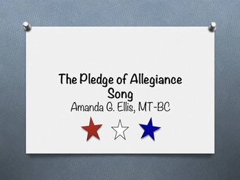 The Pledge of Allegiance Song
