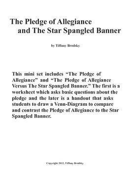 The Pledge of Allegiance and Star Spangled Banner mini set