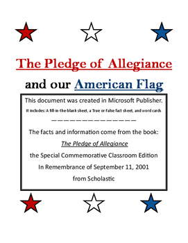 Pledge Of Allegiance Fill In Blank Worksheets Teaching Resources Tpt
