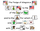 The Pledge of Allegiance in Pictures  Activities with pict