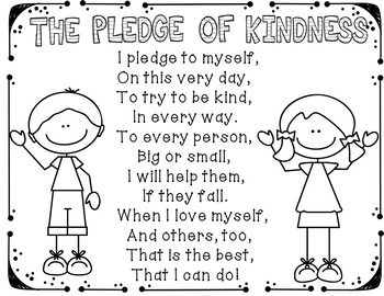 The Pledge of Kindness #weholdthesetruths #kindnessnation