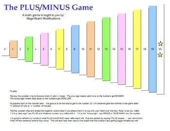 The Plus/Minus Game