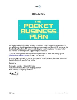 The Pocket Business Plan: A Super Simple Business Plan Generator for Kids