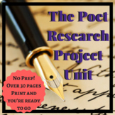 The Poet Research Poetry/Literary Analysis Research Writing Project Unit
