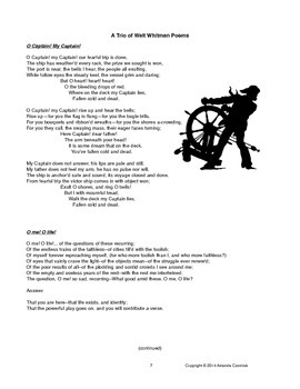 The Poetry of Dickinson and Whitman Mini Unit