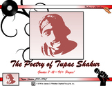 Poetry of Tupac Shakur Unit Study