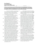 The Poisonwood Bible Literary Analysis practice