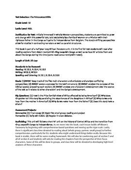 """""""The Poisonwood Bible"""" Unit Plan and Resources"""