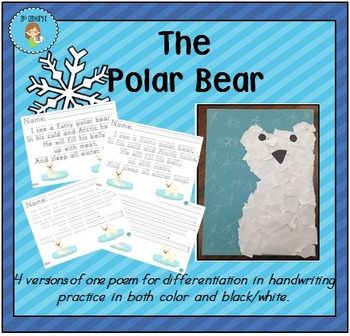"""The Polar Bear"" Handwriting Practice"