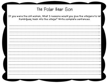 The Polar Bear Son Printable and Paperless Resources