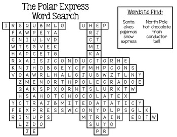 The Polar Express Writing and Activities