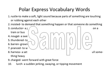 The Polar Express 5 day Unit for 4th grade with Assessments & PowerPoints