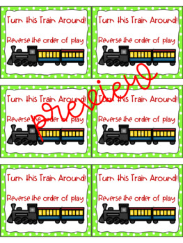 The Polar Express Addition Card Game