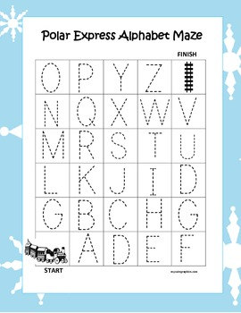 The Polar Express Alphabet Tracing Mazes (3 Different Ones)