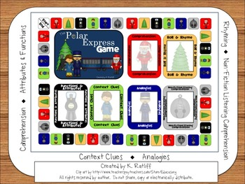 The Polar Express Book Companion Board Game