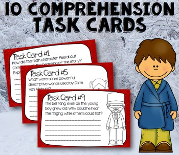 The Polar Express Book Study: Task Cards, Interactive Notebook Pages, and More