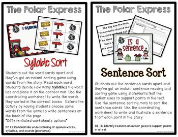 Sub Plans and Book Companion Activities ~ Polar Express