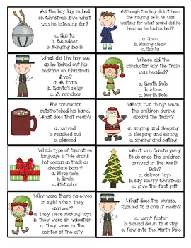 The Polar Express Comprehension Pack!