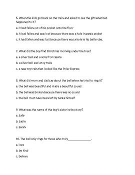 The Polar Express Comprehension Test