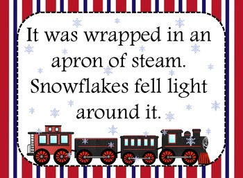 The Polar Express (Decoration set) blue, red, yellow