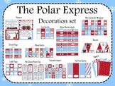 The Polar Express Decoration set (light blue and red)