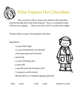 The Polar Express Reading Procedural Text: How to Make Hot Chocolate