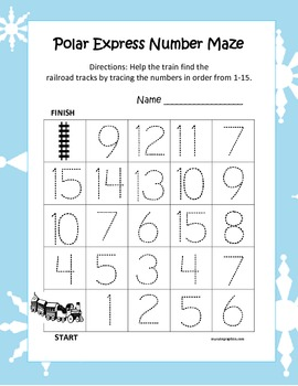 The Polar Express Leveled Number Mazes (3 Total)