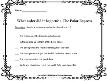 The Polar Express Literary Unit