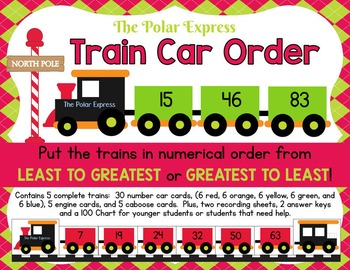 The Polar Express Math & Literacy Bundle:  6 Full Kits - Leveled for Grades K-2