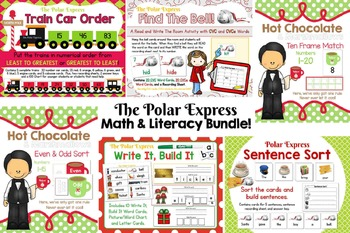 The Polar Express Math & Literacy Bundle:  6 Full Kits - L