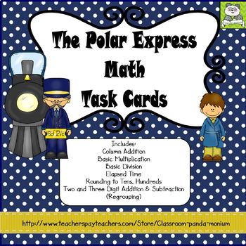 The Polar Express Math Task Cards