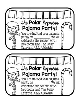 The Polar Express Pajama Party Invites