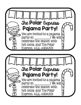 The Polar Express Pajama Party Invites